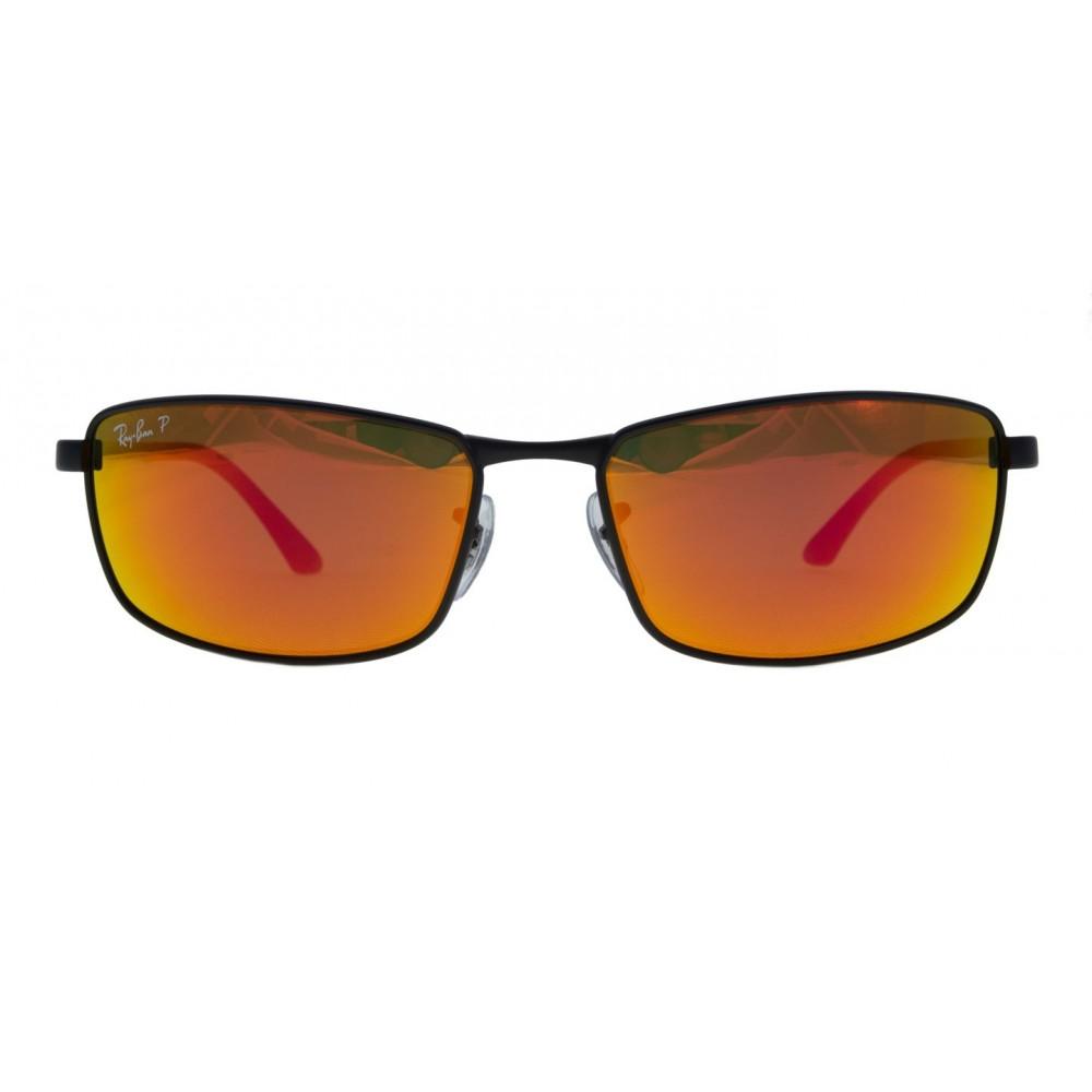 4e3efb15b542d Ray-Ban RB3498-006 6S Black   Polarized Orange Flash