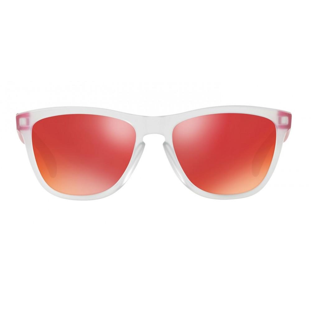 b204854534e Oakley Frogskins OO9013-B3 Matte Clear Pink   Torch Iridium