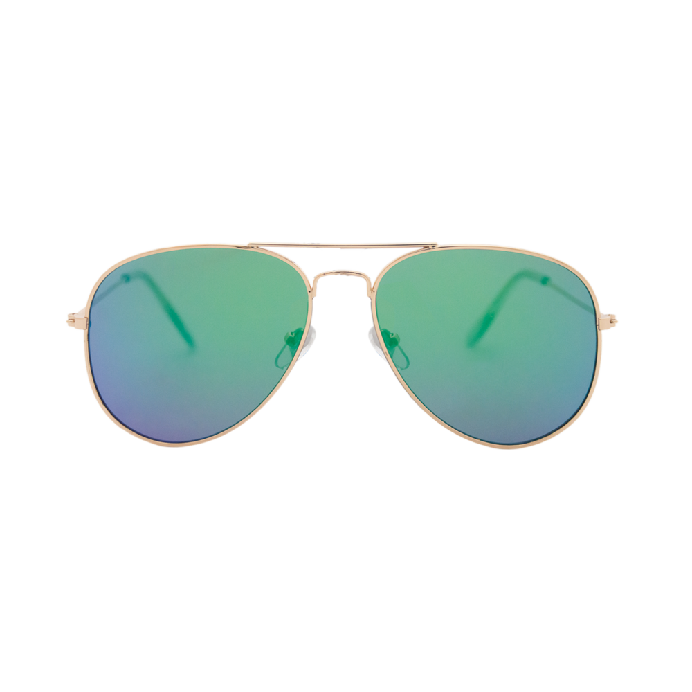 fec0a962f5 A classic frame, aviator style glasses with mirrored flat lens and metal  frame, with a touch of elegance and a classic look of the aviator style.