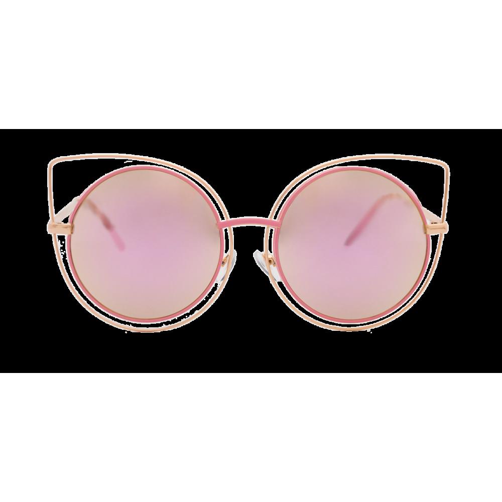 1d9d173956 Lentes redondos muy de moda y con detalles de ojo de gato sutil y  transparente, estas gafas de sol delgadas pero resistentes son perfectas  para agregar un ...