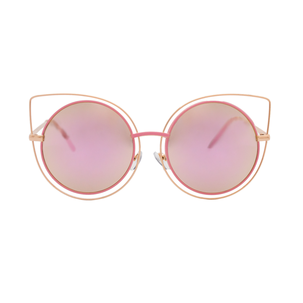 9410d268c5 Round frame, fashionable, flat lenses,with a subtle cat's eye style. This  thin but resistant sunglasses are perfect to add a touch of freshness to  every ...