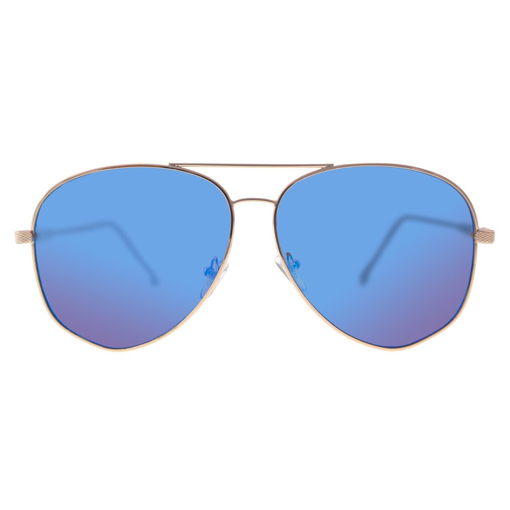 1697430338 Estos aviadores unisex son el estilo más usado en gafas de sol en el mundo.  Con su marco dorado y un fino detalle en las patas, ofrecen un estilo para  ...