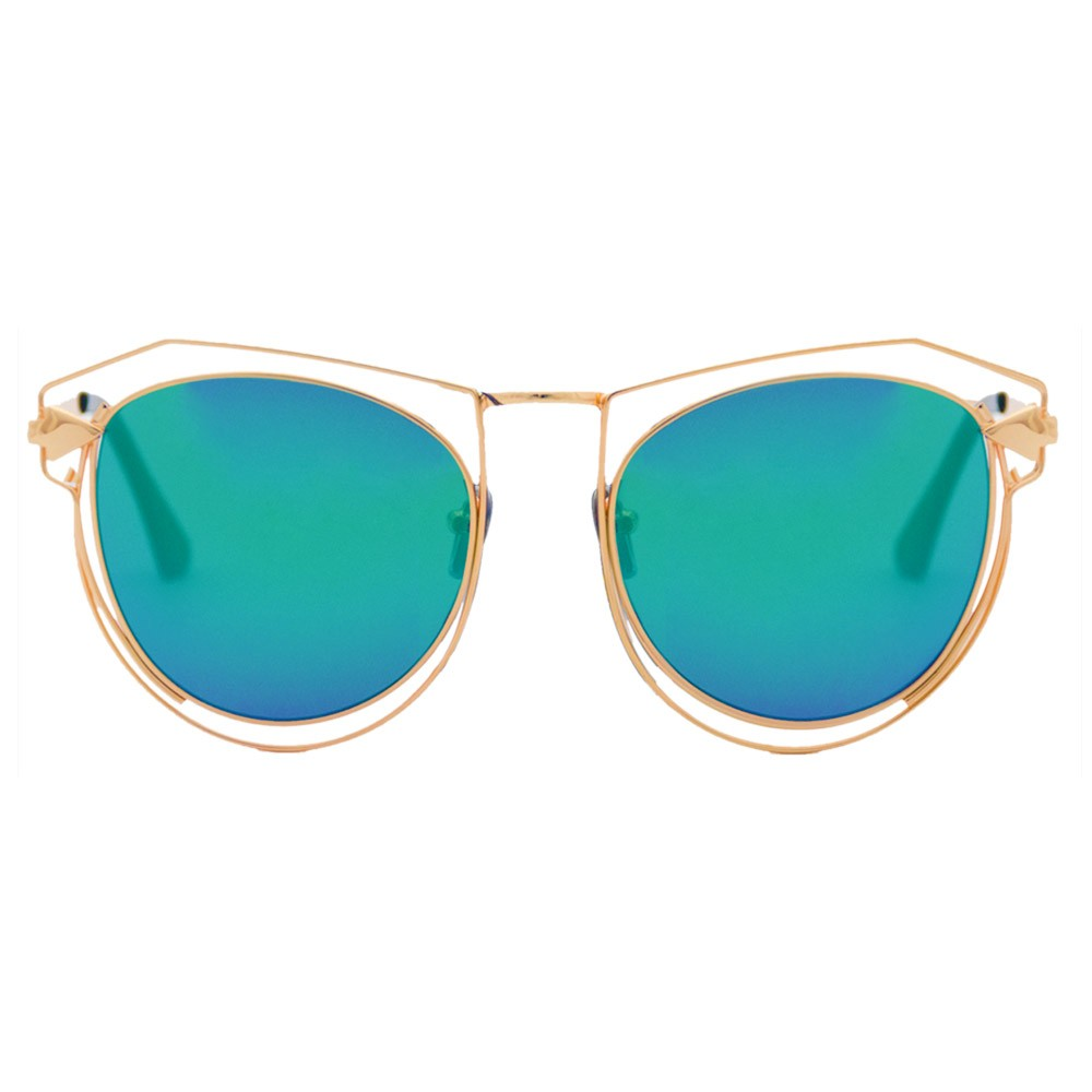 75c50c1fa0 Bold yet beautiful, these striking, mirrored lenses are also coated with  UV400 to offer ...