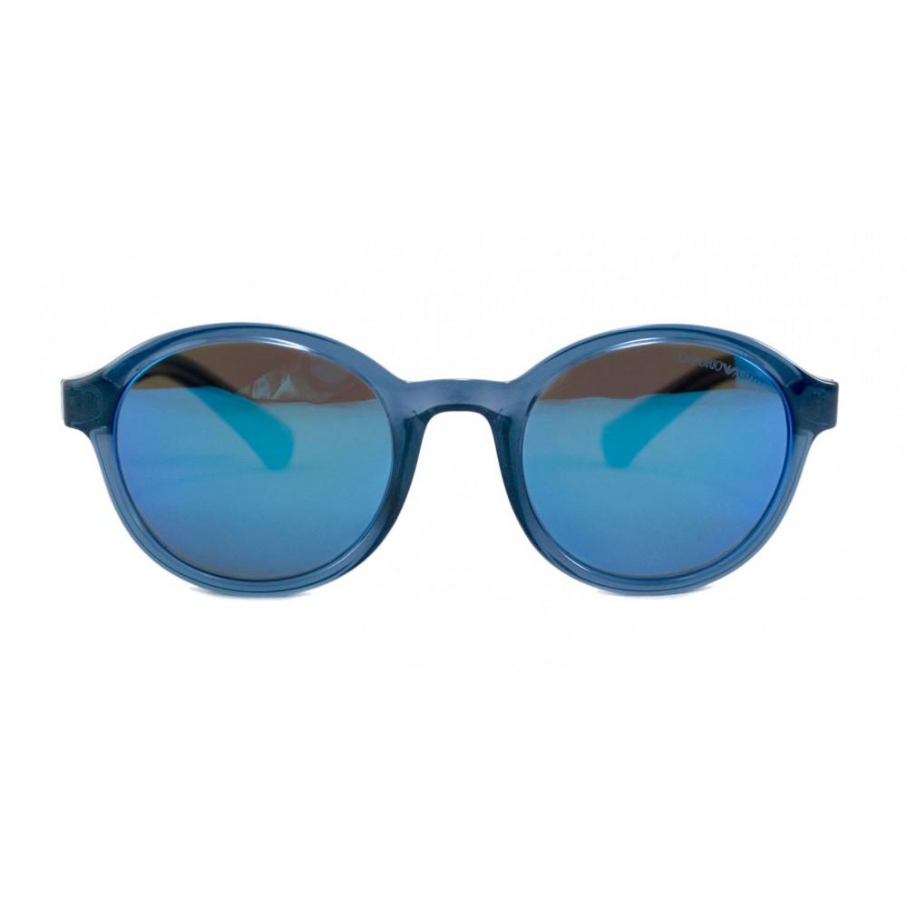 c12e5aa5a8 Las gafas EA4054 proviene de la colección reciente de Emporio Armani. La  montura está fabricada en plástico y viene con lentes espejados color azul  claro.